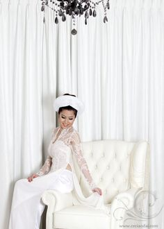 Wedding ao dai - Love the neckline with lace