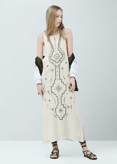Embroidery bead dress - Dresses for Woman | MANGO Slovenia