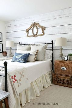 A shiplap accent wall always looks great.