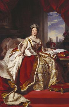 Queen Victoria (1819-1901), 1859. Franz Xaver Winterhalter (German, 1805-1873). Oil on canvas.  Royal Collection, Windsor Castle, London, UK...