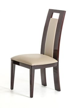 Modrest Douglas Modern Ebony and Taupe Dining Chair