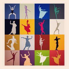 Minimalist poster dancer by Jibeyatelier