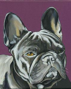 French Bulldog Tattoo, French Bulldog Art, French Bulldogs, Cow Art, Oui Oui, Watercolor Animals, Dog Portraits, Animal Paintings, Painting & Drawing