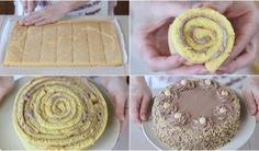TORTA NOCCIOTELLA di Benedetta –  Hazelnuts Nutella Roll cake Recipe