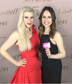 NovaLash founder and CEO Sophy Merszei poses with MODERN editor Mary Kaleta after her interview at the brand's LashOff awards. The brand celebrates its 15th anniversary this year.