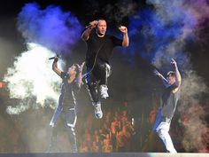 "The New Kids on the Block perform during the kickoff of ""The Main Event"" tour in Las Vegas.   Ethan Miller, Getty Images"