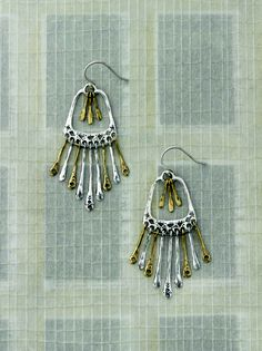 There's nothing like the soft sound of #jingling #Earrings. #Brass, #Sterling #Silver. #Silpada #Jewelry