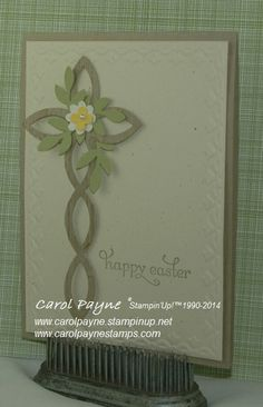Stampin' Up!, lattice die, easter cross, boho blossoms, bird builder, hardwood www.carolpayne.stampinup..net