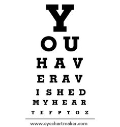 Create Your Free Eye Chart Just Like Hermann Snellen For Diy