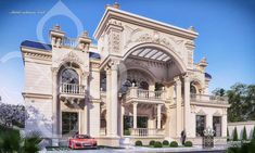 Classic Twin Villa on Behance House Balcony Design, Village House Design, Bungalow House Design, House Front Design, Classic House Exterior, Classic House Design, Dream House Exterior, Classic Architecture, Modern Architecture House