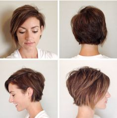 Asymmetrical Long Pixie - for growing it out