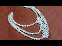 #11 How to Make Pearl Beaded Necklace || Diy || Jewellery Making - YouTube