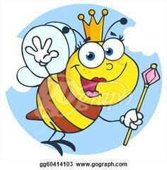 cartoon picture of queen bee | Stock Illustration - Happy Queen Bee Cartoon Character. Clipart ...