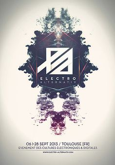 POSTER FOR THE ELECTRO ALTERNATIV FESTIVAL #9  TOULOUSE [FR]