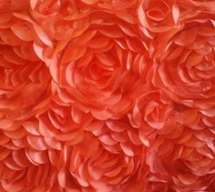 Copy of Satin Rosette Petal Fabric By the Yard color coral ...