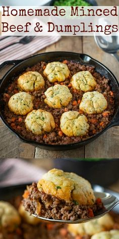 Homemade Minced Beef and Dumplings are the best British comfort food. A hearty m… Advertisements Homemade Minced Beef and Dumplings are the best British comfort food. A hearty meal served hot and bubbly to warm you from the inside out… Continue Reading → Minced Beef Recipes Easy, Minced Meat Recipe, Meat Recipes, Cooking Recipes, Healthy Mince Recipes, English Food Recipes, British Food Recipes, Drink Recipes, British Meals