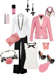 """""""Pop of Pink"""" by psuetani on Polyvore"""