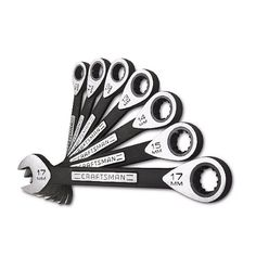 Craftsman 7-Piece Metric Universal Ratcheting Wrench Set ...