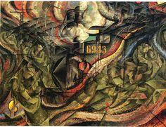 States of Mind I: The Farewells, 1911 - Umberto Boccioni - WikiArt.org