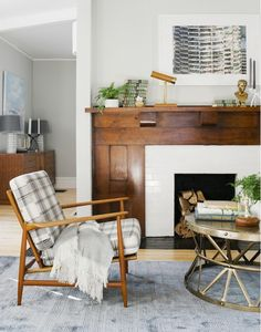 This charming fireplace will want to make you toast up those marshmallows.