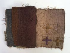 A new book form made this week. Every bit of fabric used from the same utility quilt.