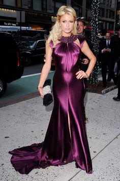 Paris Hilton in purple