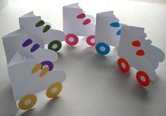 Roller Skate Note Cards Multicolored Set of 6 by paperpickles, $6.50