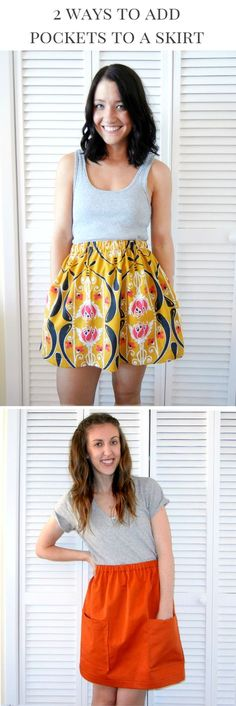 How to Add Pockets to a Skirt (in two ways) - because ALL skirts should have pockets