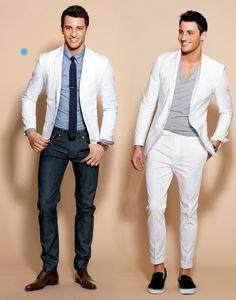 White suit, dress it up or dress it down