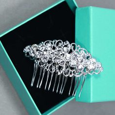 Bridal Hair Comb Wedding Hair Comb Rhombus by BlingGarden on Etsy