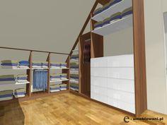 garderoba narożna z drzwiami przsuwnymi, drewno, biała, szuflady, wieszak na spodnie, kurtki