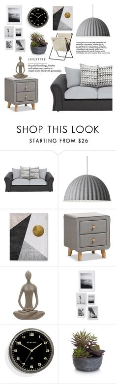 """""""Current Mood"""" by pure-vnom ❤ liked on Polyvore featuring interior, interiors, interior design, home, home decor, interior decorating, Muuto, DENY Designs, Newgate and Elements"""
