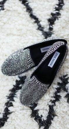 Some stunning Steve Madden Sparkle - Dress down your diamonds by pairing them with flats!
