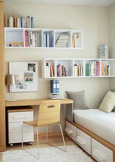 ¡Mira como puedes distribuir tu dormitorio pequeño para hacerlo más acogedor! #RoomIdeas