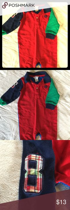 Chaps one piece color block outfit  GUC Chaps 3 months one piece outfit. So cute! Chaps One Pieces
