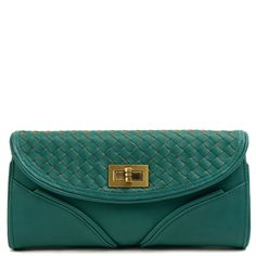 Woven Envelope Clutch with Wallet by Street Level Handbags