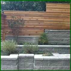 Fence, retaining wall, garden, and concrete design