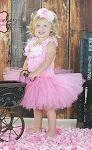 Spring Couture Pink Bouquet Girls Tutu Dress Set