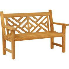 Kingsley-Bate combines the delicacy of Chinese latticework and the durability of plantation grown teak to produce their Chippendale Bench. The intricate design of this teak bench highlights Kingsley's superior craftsmanship and belies the face that the Chippendale Bench is maintenance free.