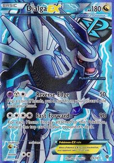 Dialga Ex Plasma Blast Full Art 99/101 Pokemon Card Rare