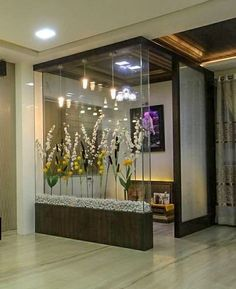 Best Pooja Room Design in India - GharPedia Apartment Interior, Home Interior Design, Bedroom Furniture Design, Home Room Design, Room Door Design, Living Room Design Modern, Living Room Partition Design, Pooja Room Design, Apartment Interior Design