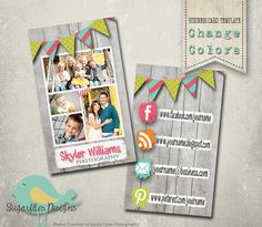 Flag Banner Business Card Templates  Business by SugarfliesDesigns, $8.00