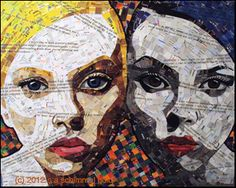 inspiration and realisation: DIY Fashion + Home: Do-Inspire-Yourself #11 - collage made out of junk mail : Sandhi Schimmel Gold - Gemini