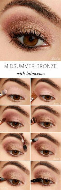 bronzy eye makeup look