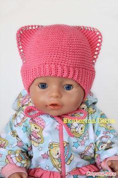 . Шапки зайчики с ушками для любимых куклы baby born - Вязание - Страна Мам Doll Clothes Patterns, Clothing Patterns, Beautiful Children, Beautiful Dolls, Doll Toys, Baby Dolls, Baby Born Clothes, Worry Dolls, Knitted Dolls