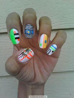 fun summer nails! tattoos-nails