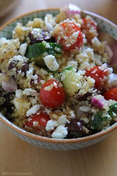Quinoa Greek salad,
