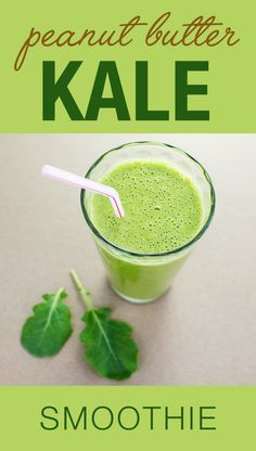 Peanut Butter Kale Smoothie - this vegan dairy free recipe makes it easy to eat your greens | VeggiePrimer.com