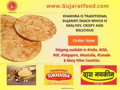 #Order Crispy and Delicious #Khakhra Today at www.gujaratfood.com and make your #breakfast #Healthy Shipping available in #India, #USA, #UK, #Singapore, #Australia, #Canada Like us on: Facebook: Gujaratfood.com Follow us on: Instagram: Gujaratfood1511 Follow us on: Twitter : GujaratFood1 ----------------------------------- www.gujaratfood.com *******Helpline********** +91.989.859.3066 (India), +001.732.438.0666 (USA) +61.404.204.708 (Australia) customercare@gujaratfood.com