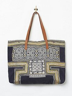 Star Mela Kalki Embriodered Tote at Free People Clothing Boutique